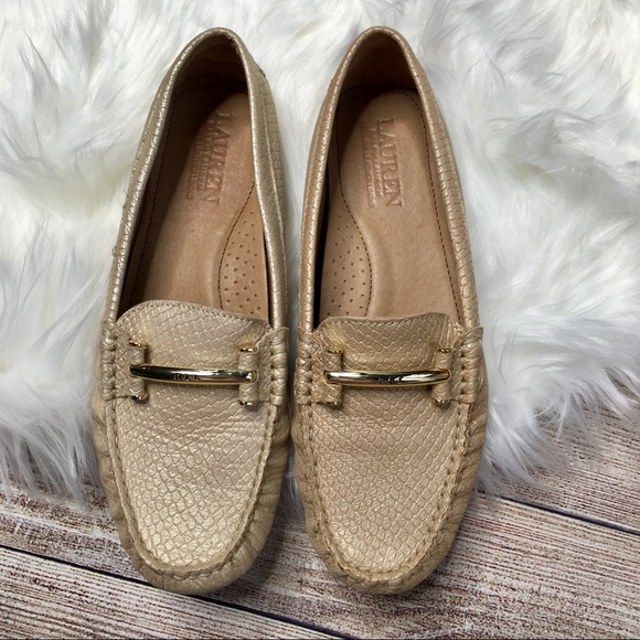 8 Loafer Size Ralph Lauren 5 Caliana Metallic HEDI29
